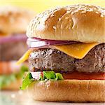 cheeseburger macro Stock Photo - Royalty-Free, Artist: hojo                          , Code: 400-04414183