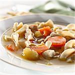 chicken noodle soup closeup Stock Photo - Royalty-Free, Artist: hojo                          , Code: 400-04414191