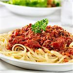 spaghetti pasta with tomato beef sauce Stock Photo - Royalty-Free, Artist: hojo                          , Code: 400-04414195