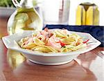Tasty Shrimp Fettuccine Alfredo Stock Photo - Royalty-Free, Artist: hojo                          , Code: 400-04414219