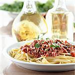 Italian spaghetti dinner Stock Photo - Royalty-Free, Artist: hojo                          , Code: 400-04414225