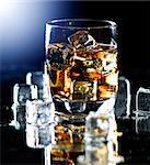 Highball whiskey glass Stock Photo - Royalty-Free, Artist: hojo                          , Code: 400-04414235