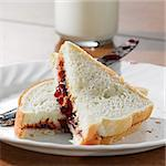 Peanut butter and jelly sandwhich Stock Photo - Royalty-Free, Artist: hojo                          , Code: 400-04414247