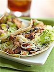 two soft shell chicken tacos Stock Photo - Royalty-Free, Artist: hojo                          , Code: 400-04414263
