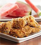 fried chicken and watermelon Stock Photo - Royalty-Free, Artist: hojo                          , Code: 400-04414282