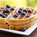 waffles with blueberries Stock Photo - Royalty-Free, Artist: hojo                          , Code: 400-04414291