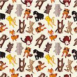 cartoon animal seamless pattern Stock Photo - Royalty-Free, Artist: notkoo2008                    , Code: 400-04414693