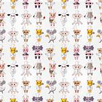 cartoon animal chef seamless pattern Stock Photo - Royalty-Free, Artist: notkoo2008                    , Code: 400-04414694