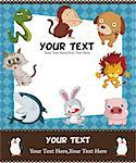 cartoon animal card   Stock Photo - Royalty-Free, Artist: notkoo2008                    , Code: 400-04415249