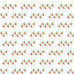 Colorful Pinwheel Seamless Background Pattern on White.