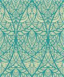 vector seamless eastern pattern in blue Stock Photo - Royalty-Free, Artist: alexmakarova                  , Code: 400-04415844