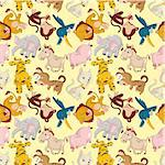cartoon animal seamless pattern Stock Photo - Royalty-Free, Artist: notkoo2008                    , Code: 400-04416681