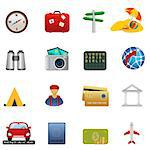Travel and tourism related icon set Stock Photo - Royalty-Free, Artist: soleilc                       , Code: 400-04416939