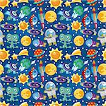 seamless space pattern   Stock Photo - Royalty-Free, Artist: notkoo2008                    , Code: 400-04418977