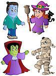 Cartoon Halloween characters 1 - vector illustration. Stock Photo - Royalty-Free, Artist: clairev                       , Code: 400-04419359