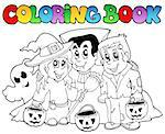 Coloring book Halloween topic 3 - vector illustration. Stock Photo - Royalty-Free, Artist: clairev                       , Code: 400-04419368