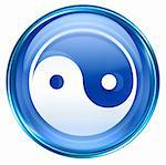 yin yang symbol icon blue, isolated on white background. Stock Photo - Royalty-Free, Artist: zeffss                        , Code: 400-04419440