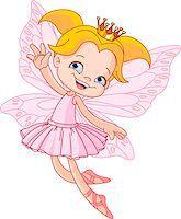 Cute fairy ballerina flying Stock Photo - Royalty-Freenull, Code: 400-04419496