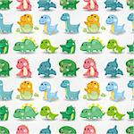 seamless dinosaur pattern   Stock Photo - Royalty-Free, Artist: notkoo2008                    , Code: 400-04419700