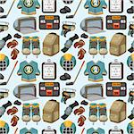 cartoon hockey sport seamless pattern Stock Photo - Royalty-Free, Artist: notkoo2008                    , Code: 400-04420818