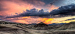 Painted Hills in John Day Fossil Beds National Monument Oregon Sunset Panorama Stock Photo - Royalty-Free, Artist: Davidgn                       , Code: 400-04421738