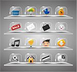 Website Internet Icons ,Transparent Glass Button Stock Photo - Royalty-Free, Artist: notkoo2008                    , Code: 400-04421852
