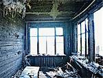 old abandoned burned interior photo Stock Photo - Royalty-Free, Artist: vicnt                         , Code: 400-04422358