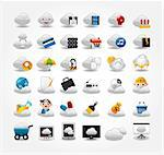 Vector Icons for Cloud network Stock Photo - Royalty-Free, Artist: notkoo2008                    , Code: 400-04422538