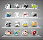 Website Internet Icons ,Transparent Glass Button Stock Photo - Royalty-Free, Artist: notkoo2008                    , Code: 400-04422539