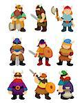 cartoon Viking Pirate icon set   Stock Photo - Royalty-Free, Artist: notkoo2008                    , Code: 400-04422731