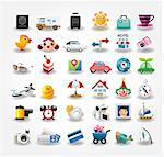 Travel icons symbol collection. Vector illustration   Stock Photo - Royalty-Free, Artist: notkoo2008                    , Code: 400-04422733