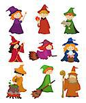 cartoon Wizard and Witch icon set   Stock Photo - Royalty-Free, Artist: notkoo2008                    , Code: 400-04423584