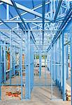   New home under construction using steel frames Stock Photo - Royalty-Free, Artist: LevKr                         , Code: 400-04423904