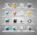 Website Internet Icons ,Transparent Glass Button   Stock Photo - Royalty-Free, Artist: notkoo2008                    , Code: 400-04423999