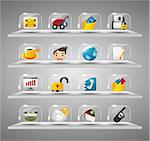 Website Internet Icons ,Transparent Glass Button   Stock Photo - Royalty-Free, Artist: notkoo2008                    , Code: 400-04424000