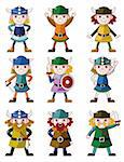cartoon Viking Pirate icon set   Stock Photo - Royalty-Free, Artist: notkoo2008                    , Code: 400-04424416