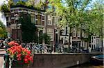 Street Corner along Lauriergracht, Amsterdam, Netherlands