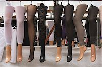 Stockings Displayed on Mannequin Legs in Market Stock Photo - Premium Rights-Managednull, Code: 700-04425037