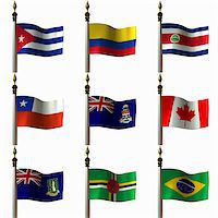 Flags of the Americas Stock Photo - Royalty-Freenull, Code: 400-04429267