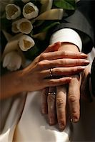 The groom keep the bride for hands Stock Photo - Royalty-Freenull, Code: 400-04429824