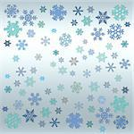 Abstract with white snow flakes against blue background Stock Photo - Royalty-Free, Artist: Friday                        , Code: 400-04429922