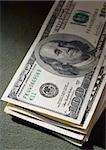 close-up view of pile of US dollars in the twilight Stock Photo - Royalty-Free, Artist: AlexStar                      , Code: 400-04430243