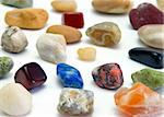 closeup view of colourfull stones on the white baxkground Stock Photo - Royalty-Free, Artist: AlexStar                      , Code: 400-04430293