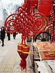Bright red decorations for Chinese New Year Stock Photo - Royalty-Free, Artist: ginaellen                     , Code: 400-04431623