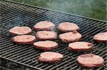 Raw burgers on the grill waiting to be cooked Stock Photo - Royalty-Free, Artist: surpasspro                    , Code: 400-04433243