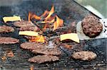 Cheese Burgers on the Grill Stock Photo - Royalty-Free, Artist: surpasspro                    , Code: 400-04433245