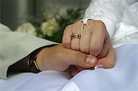The groom keep the bride for hands Stock Photo - Royalty-Freenull, Code: 400-04434175