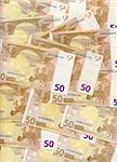 Texture of 50 euro bills Stock Photo - Royalty-Free, Artist: paxi                          , Code: 400-04434199