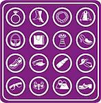 fashion, clothes and accessory icons Stock Photo - Royalty-Free, Artist: Krisdog                       , Code: 400-04435309