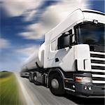 truck driving on country-road/motion blur Stock Photo - Royalty-Free, Artist: mikdam                        , Code: 400-04444332